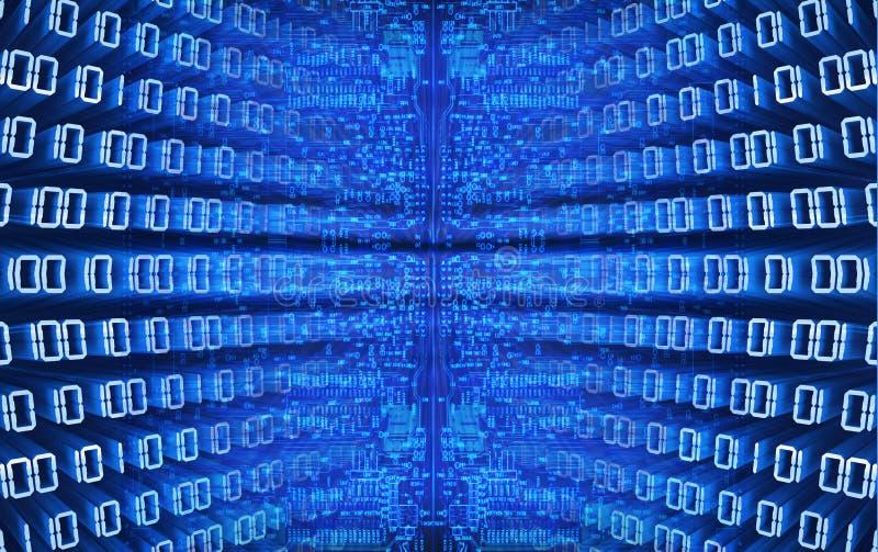 бинарный голубой Код иллюстрация штока