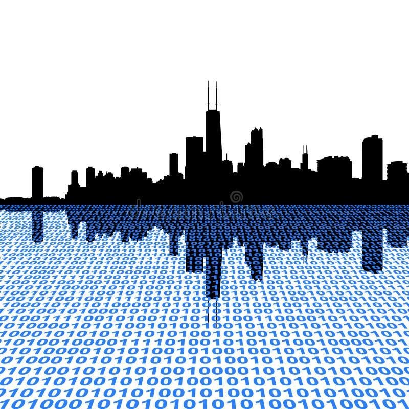 бинарный горизонт chicago бесплатная иллюстрация