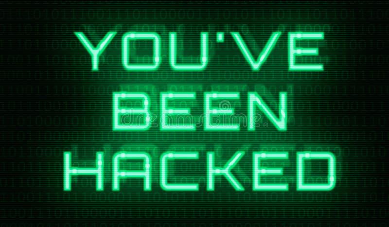 Бинарный код со словами вы были прорублены стоковое изображение rf