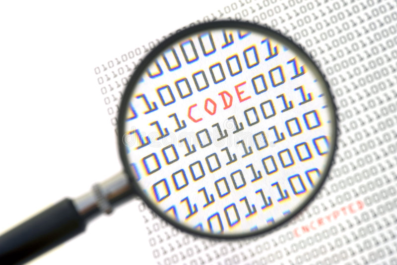 бинарный Код стоковая фотография