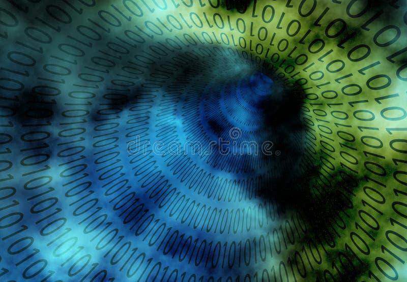 бинарный тоннель grunge иллюстрация вектора
