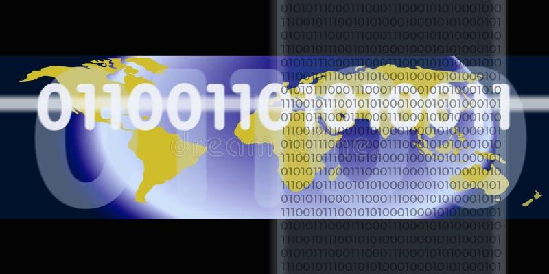 бинарный цифровой поток иллюстрация штока
