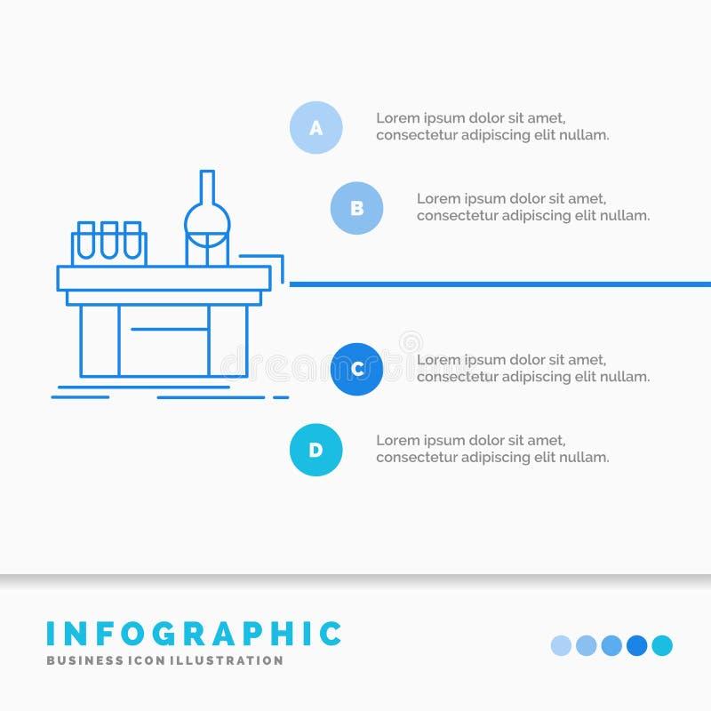 Биология, химия, лаборатория, лаборатория, шаблон Infographics продукции для вебсайта и представление r бесплатная иллюстрация