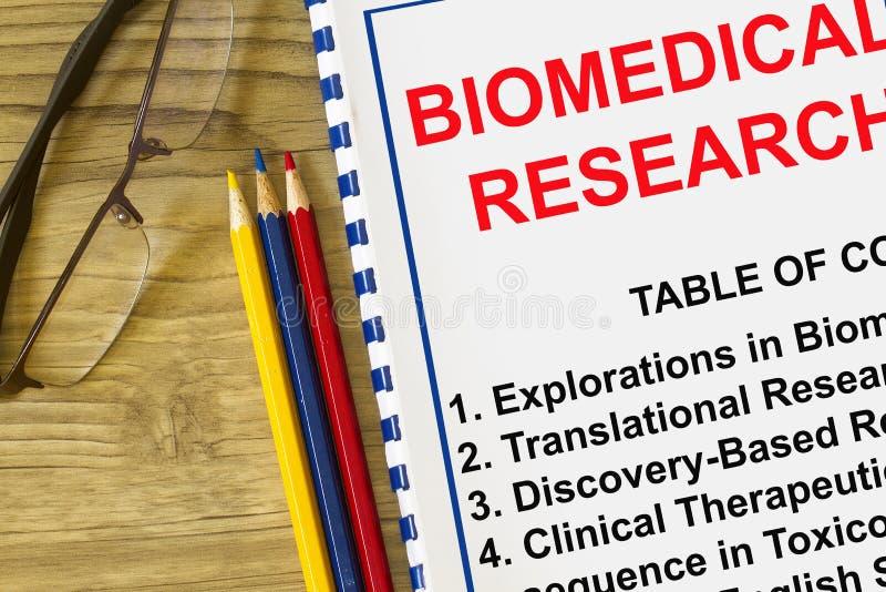 Биомедицинская концепция исследования стоковое изображение