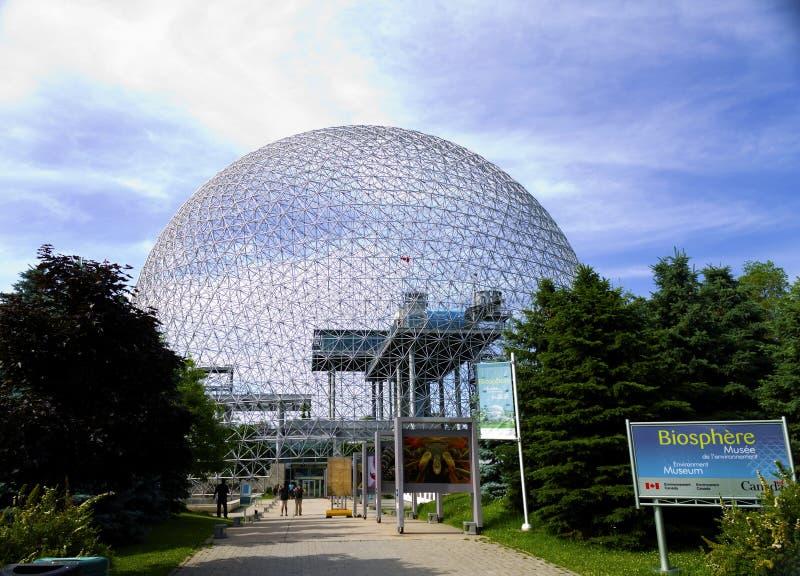 Биосфера Монреаль стоковое изображение rf