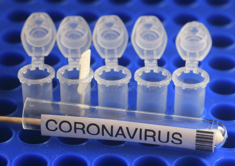 Биотекнологии для обнаружения Covid-19 с использованием диагностики CRISPR стоковая фотография