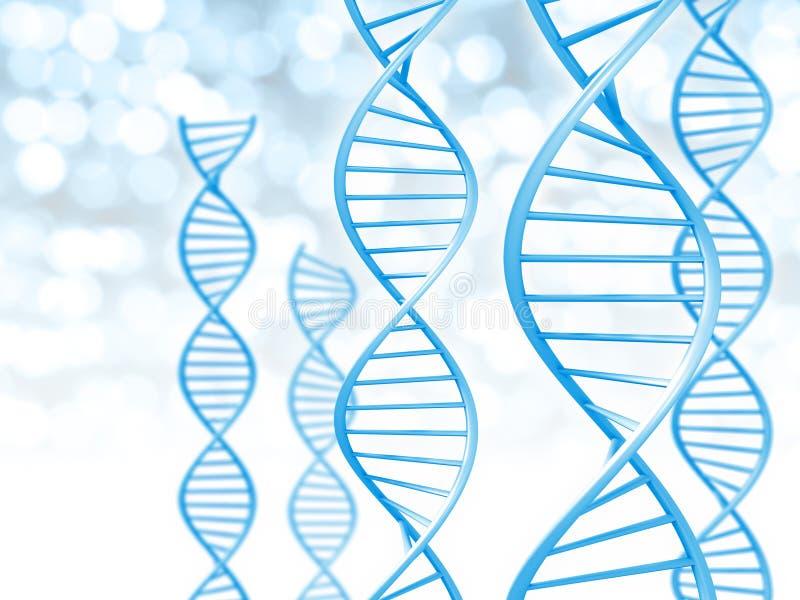 Биотехнология и генетическая концепция данных винтовой линии сформировали строки дна иллюстрация штока