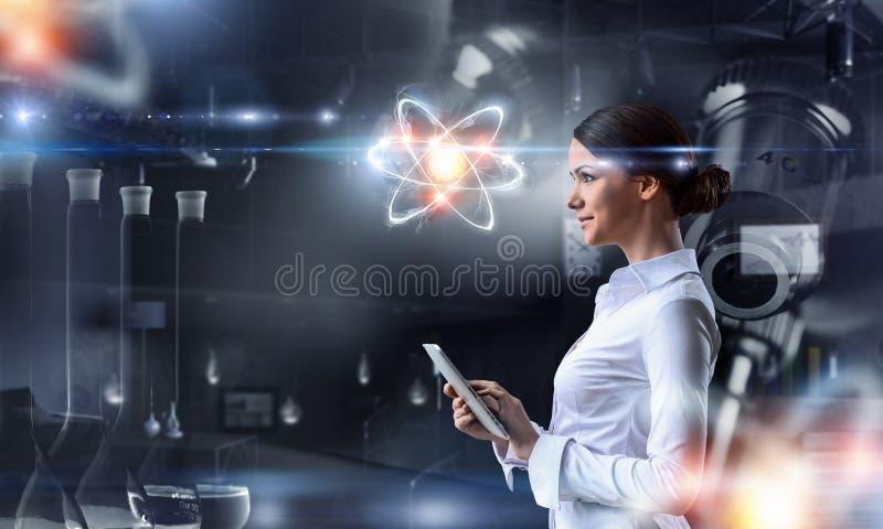 Биохимия и технологии Мультимедиа иллюстрация штока