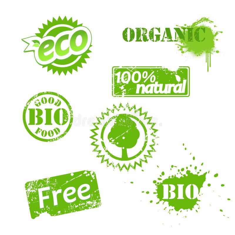 био комплект ярлыков использовал бесплатная иллюстрация