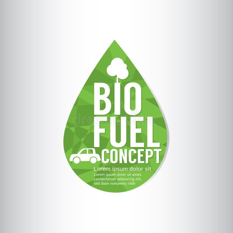Био концепция зеленого цвета топлива иллюстрация штока