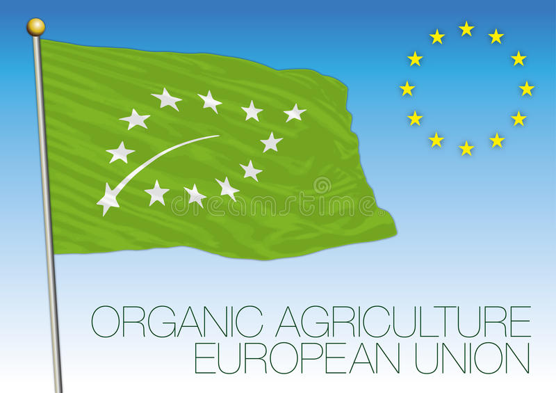 Биологический и органический флаг и символ Европейского союза земледелия бесплатная иллюстрация