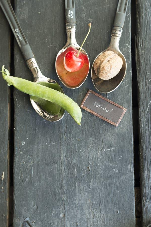 Био, органическая или естественная идея еды стоковые фото