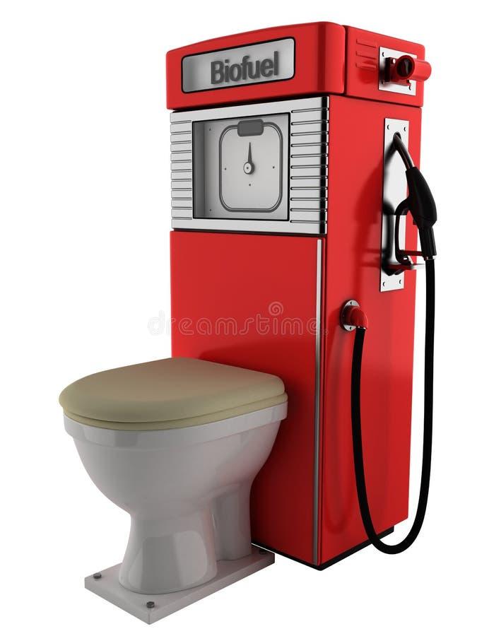 био туалет насоса для подачи топлива стоковое изображение rf