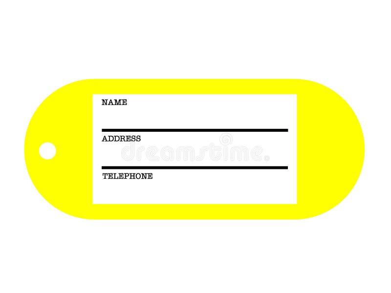 Бирка адреса бесплатная иллюстрация