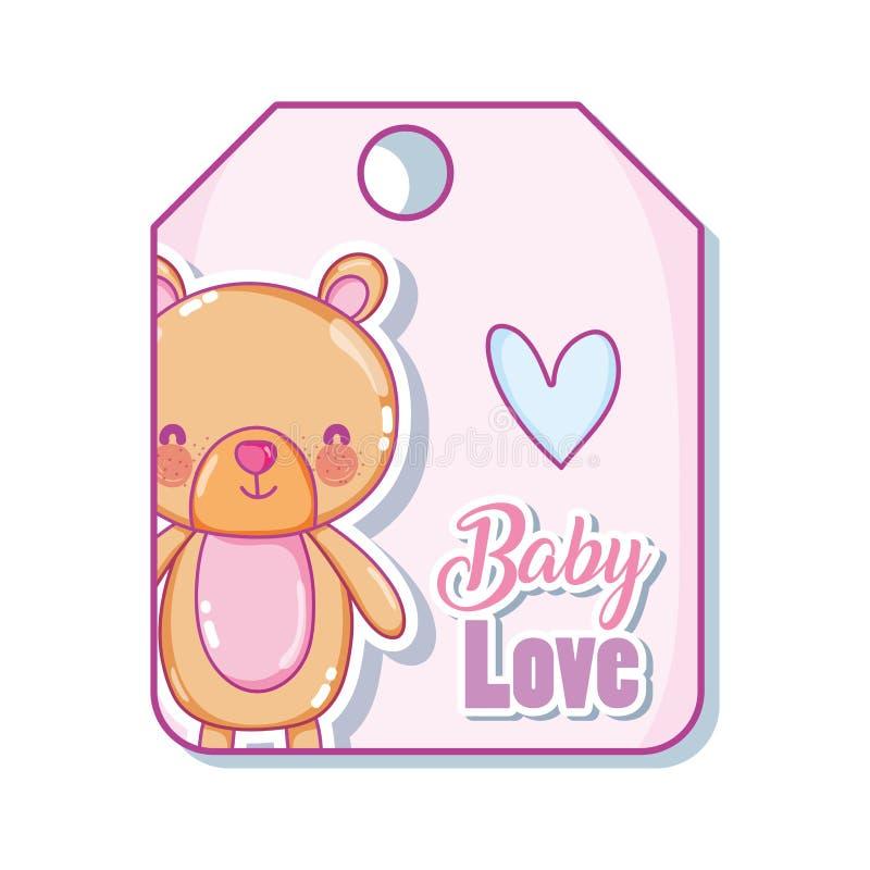 Бирка влюбленности младенца бесплатная иллюстрация