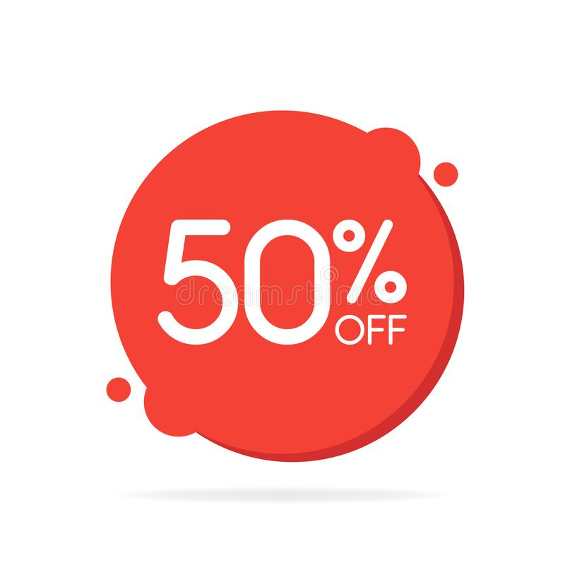 Бирка круга продажи специального предложения красная круглая Уцените ярлык цены предложения, символ для рекламной кампании в розн иллюстрация штока