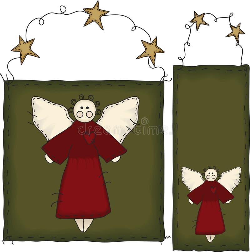 бирка людей знамени искусства ангела стоковые изображения rf
