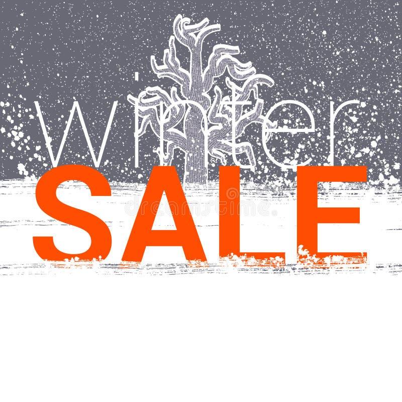 Бирка продажи зимы Цена рождества, Нового Года или карточка скидки иллюстрация штока