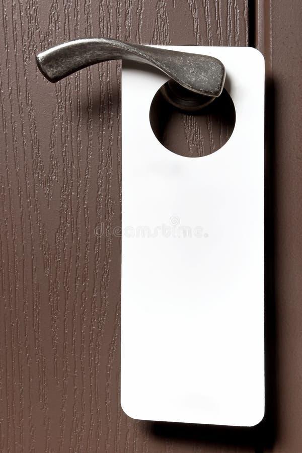 Бирка ручки двери стоковое изображение rf