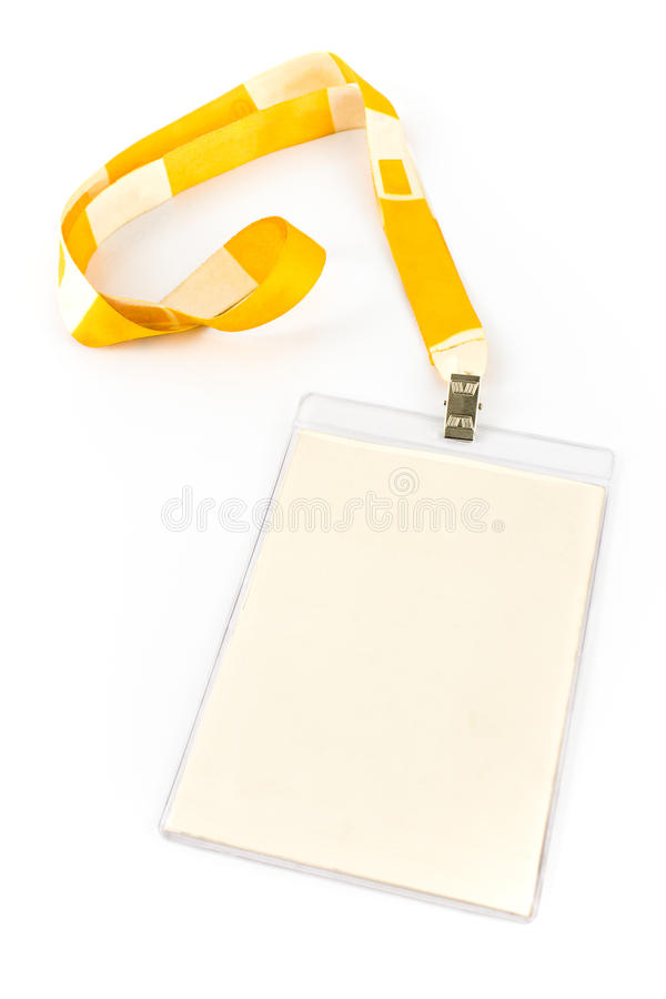 бирка удостоверения личности пустой карточки стоковые фото