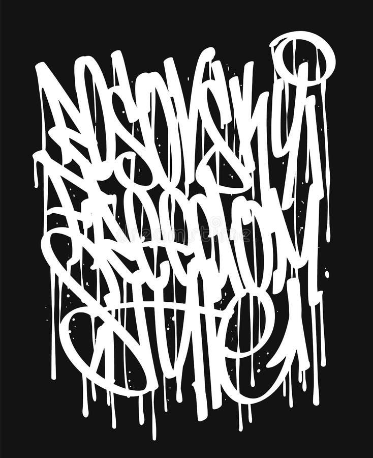Бирки граффити вектора, печать футболки дизайн и другие пользы стоковое фото