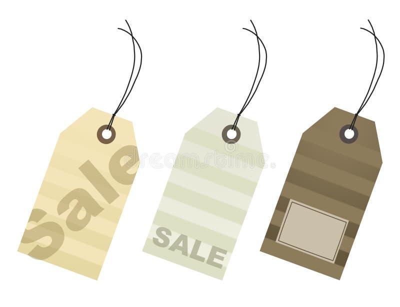 бирки каждой покупкы сезона розничной продажи цены бесплатная иллюстрация