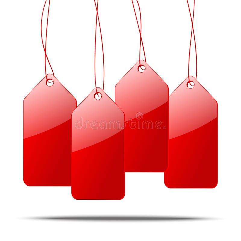 Download бирки красного цвета цены иллюстрации 3d Иллюстрация вектора - иллюстрации насчитывающей розница, дело: 33738890