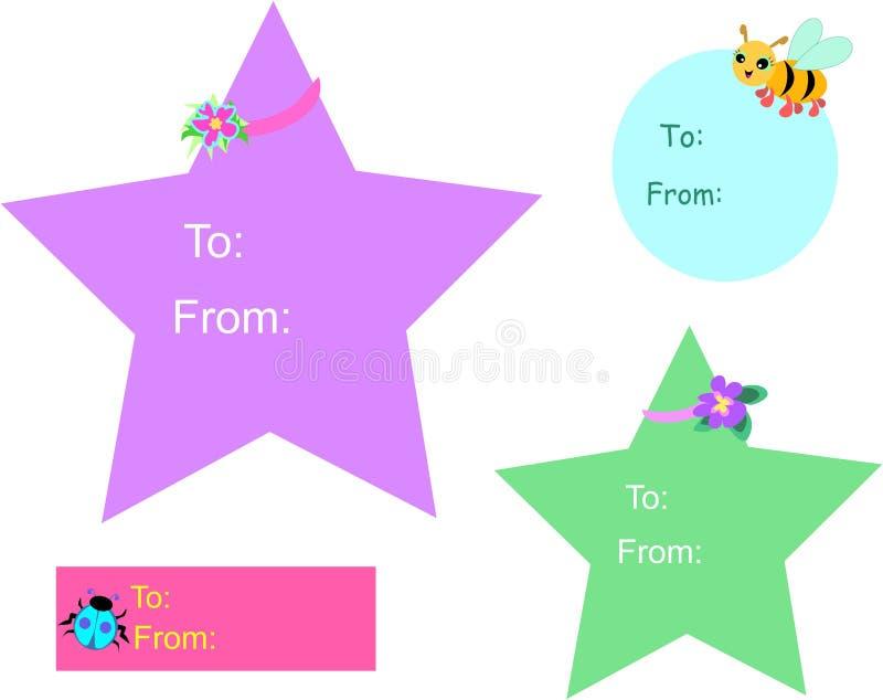 бирки подарка к бесплатная иллюстрация