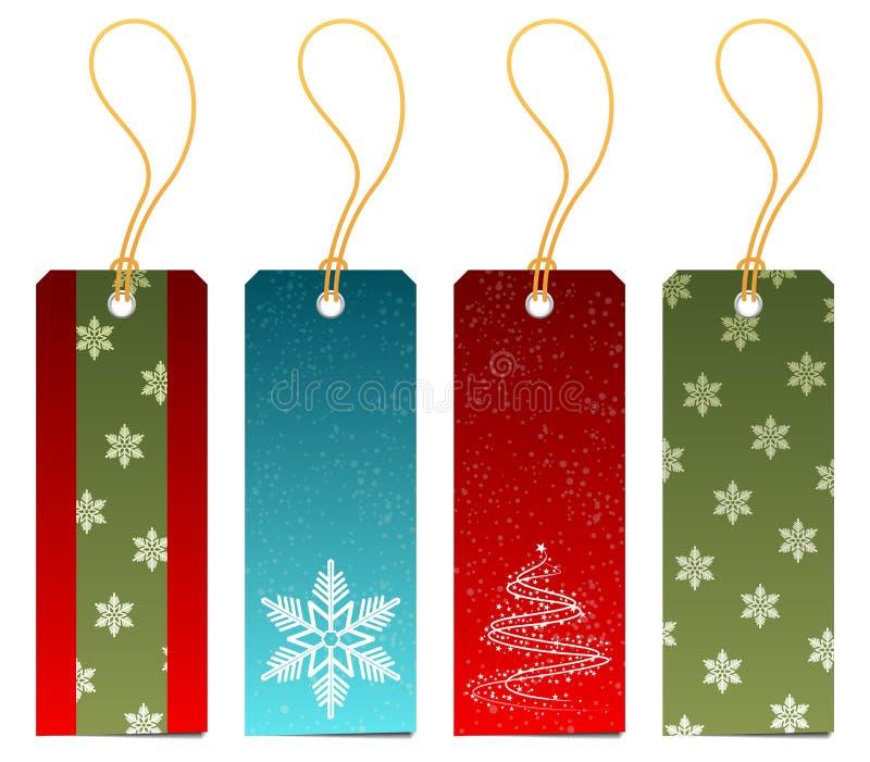 бирки подарка рождества установленные иллюстрация вектора