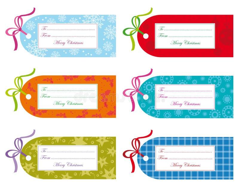 бирки подарка рождества иллюстрация штока
