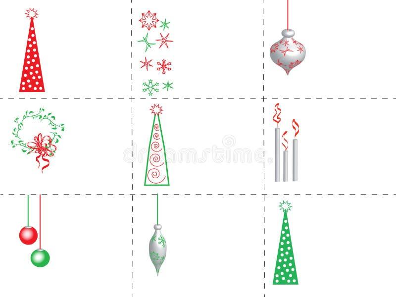 Бирки подарка рождества иллюстрация вектора
