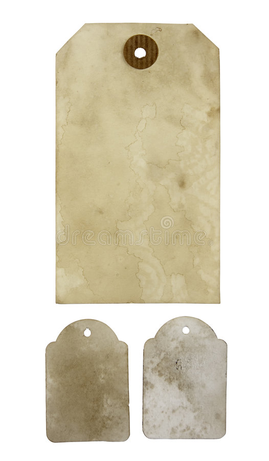 бирки пустой бумаги стоковое фото rf