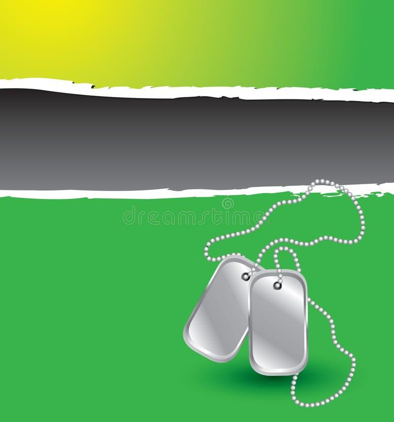 бирки собаки знамени сорванные зеленым цветом иллюстрация вектора