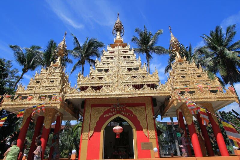 Бирманские буддийские пагоды стоковое изображение rf