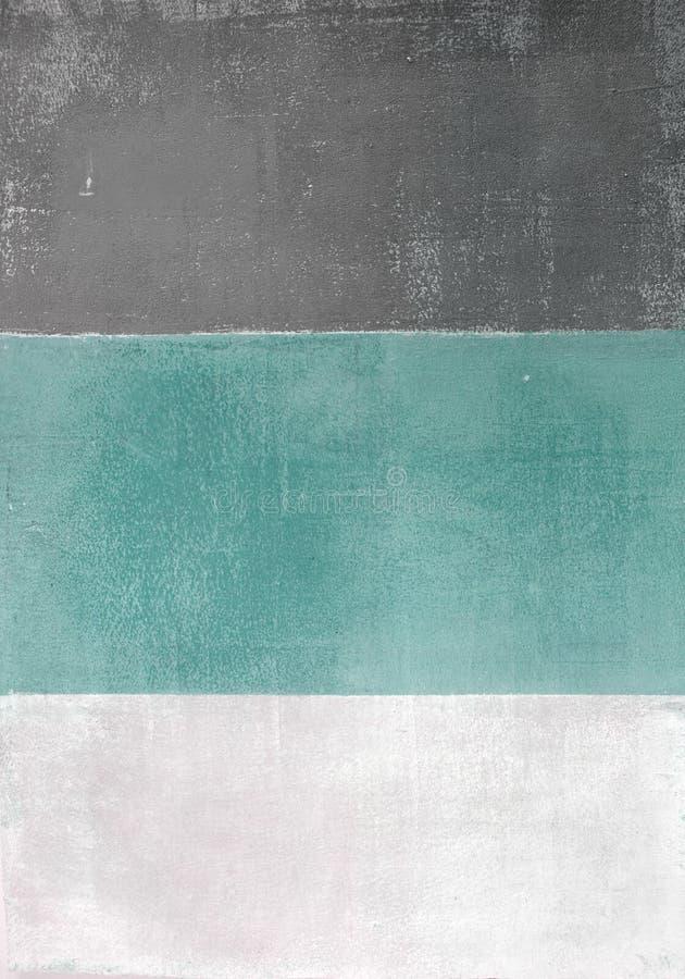Бирюза и серая картина абстрактного искусства стоковое изображение