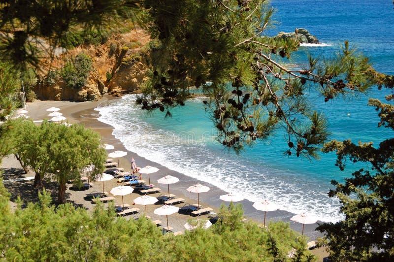 бирюза моря пляжа красивейшая стоковые изображения