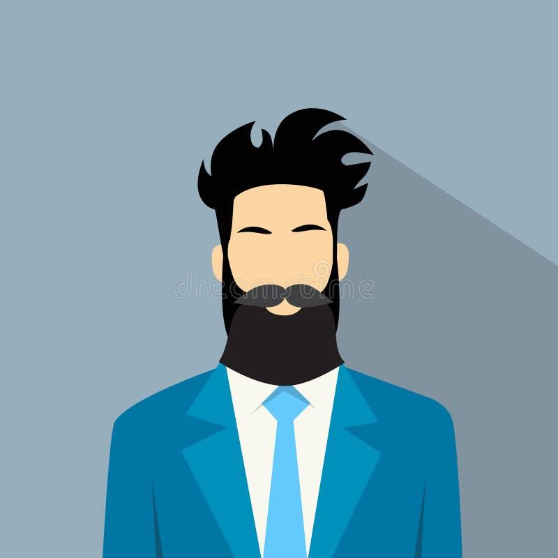 Битник воплощения значка профиля бизнесмена мужской иллюстрация вектора