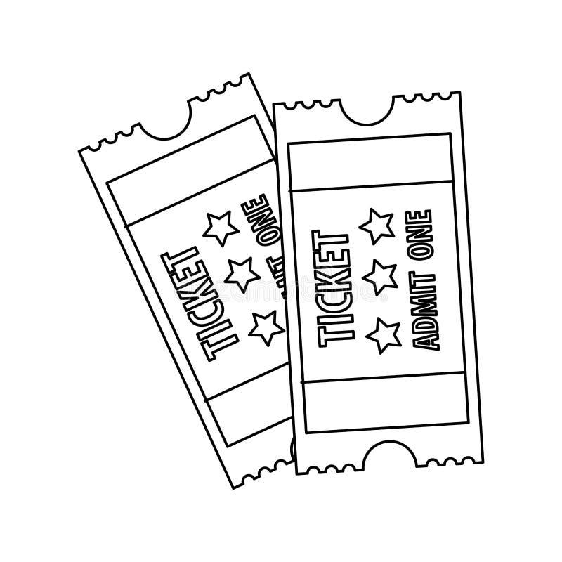 Билеты впускают одно изображение значка иллюстрация вектора