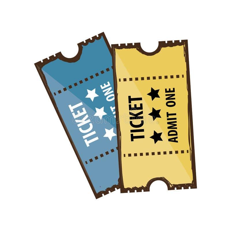 Билеты впускают одно изображение значка иллюстрация штока