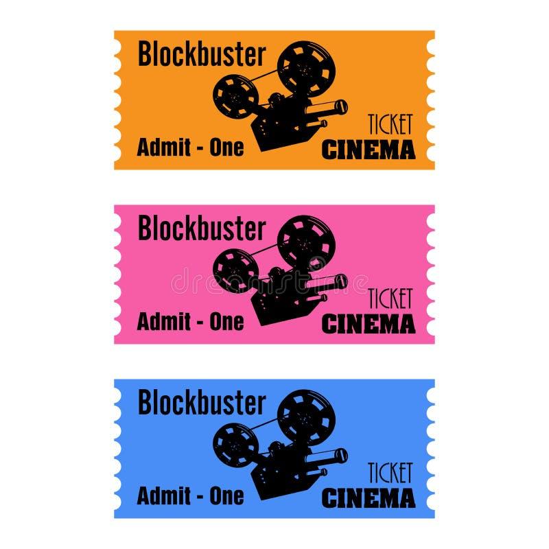 Билеты кино блокбастера бесплатная иллюстрация
