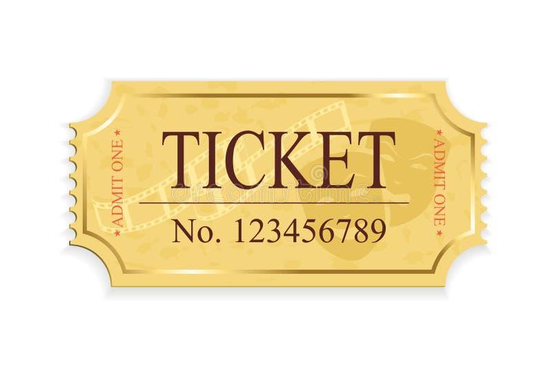 Билет кино иллюстрация штока