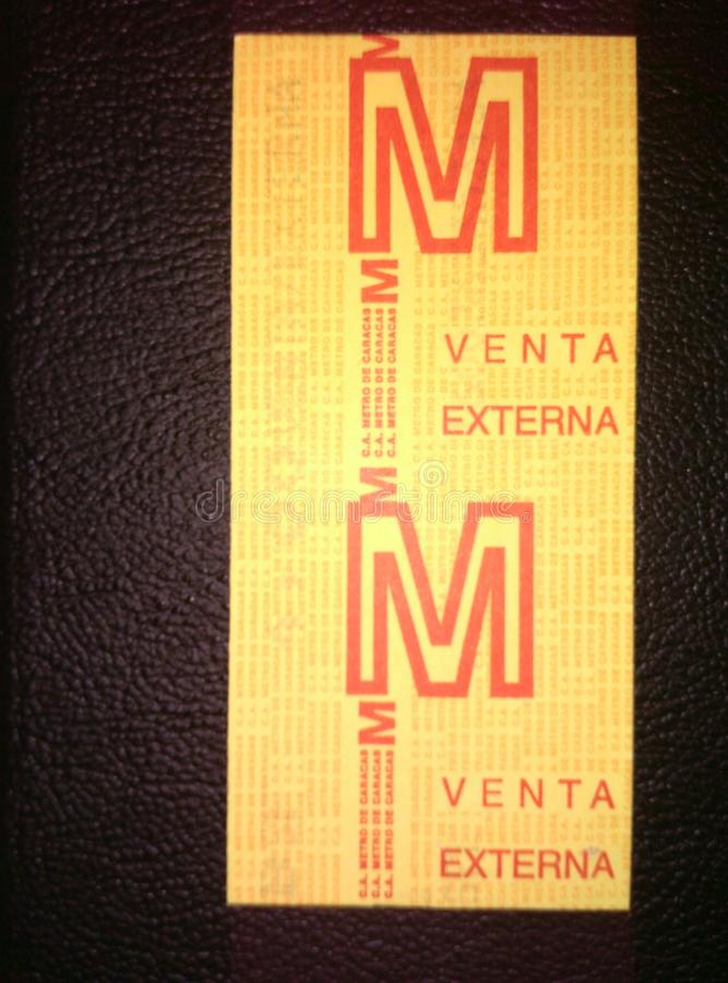 Билет метро стоковые фото