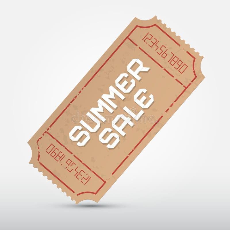 Билет продажи лета вектора иллюстрация вектора