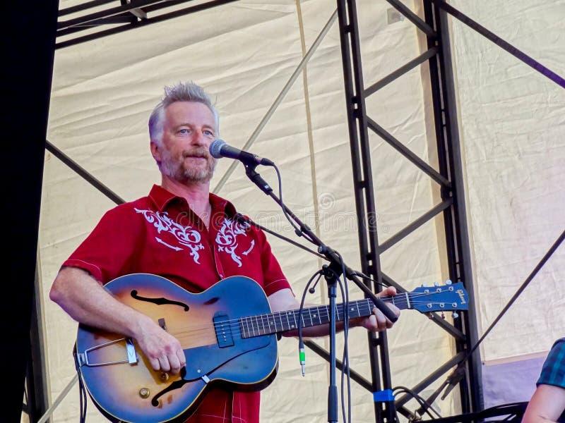 Билли Bragg - фестиваль 2014 широты стоковое фото