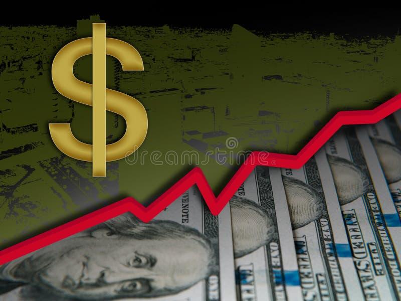 Благодарность доллара США, концепция благодарности валюты США иллюстрация вектора
