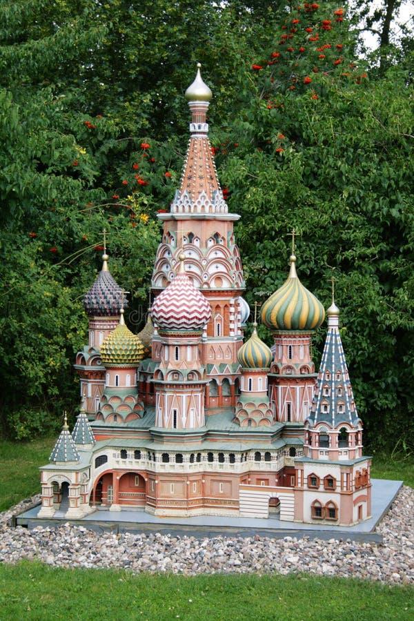 благословленная базиликом миниатюра собора стоковые фотографии rf