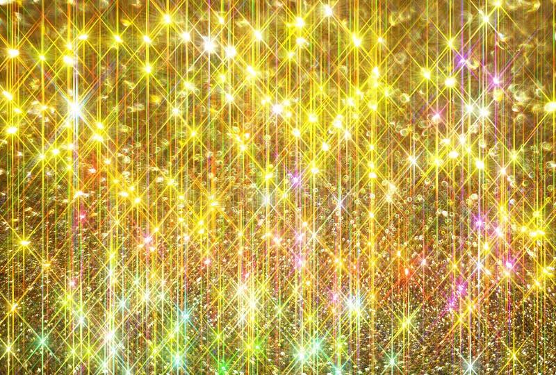 Блеск диаманта на золотой предпосылке бесплатная иллюстрация