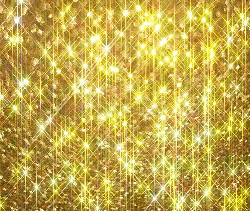 Блеск диаманта на золотой предпосылке иллюстрация штока