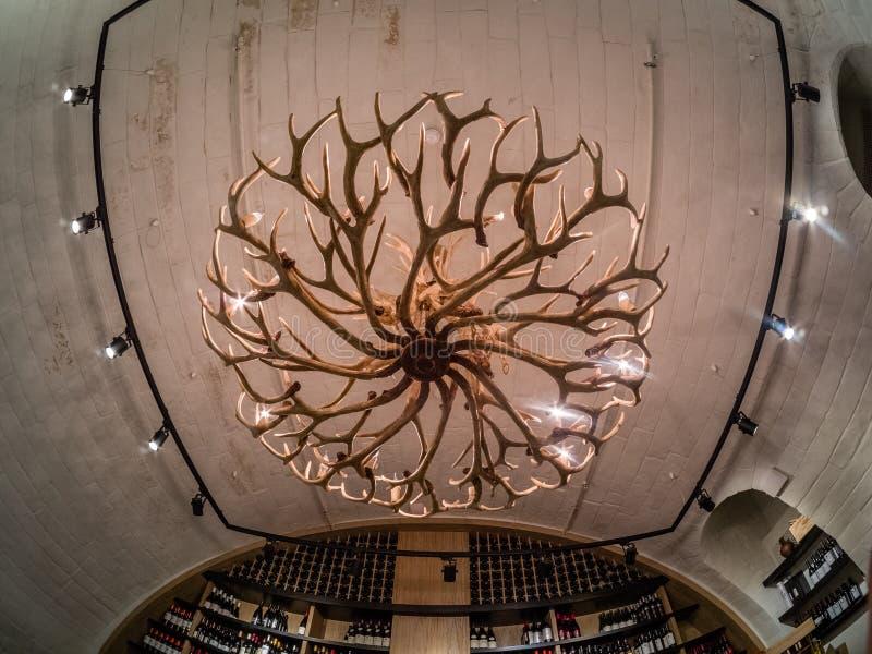 Блеск сделанный из antlers оленей в собрании винтажных вин стоковое изображение rf