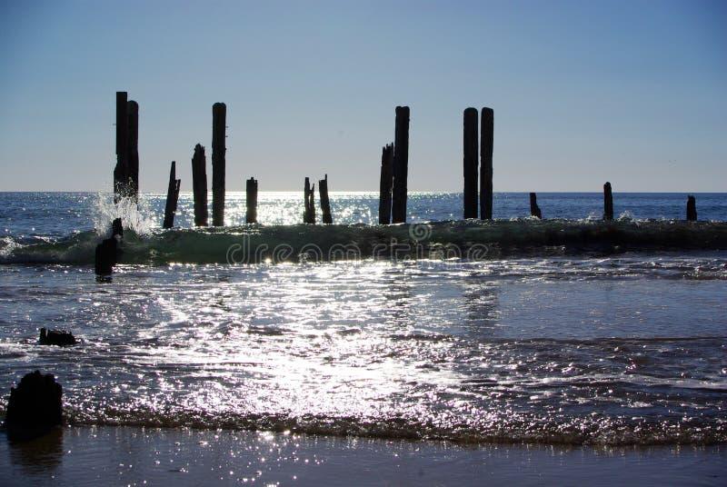 блестящее гаван willunga волны моря стоковое фото